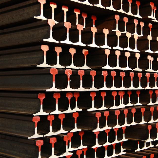 stacks of rail stock